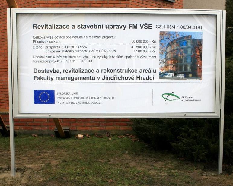 Revitalisation and building modifications at FM VŠE