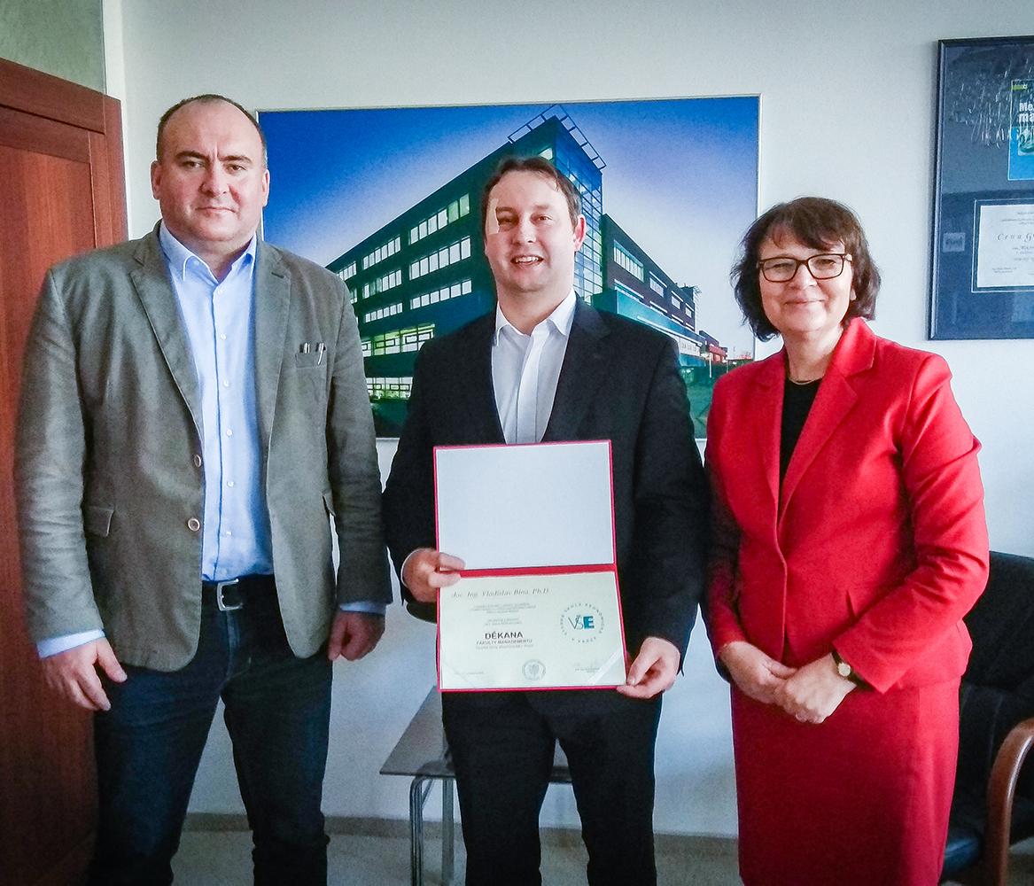 Doc. Ing. Vladislav Bína, Ph.D. oficiálně jmenován děkanem Fakulty managementu