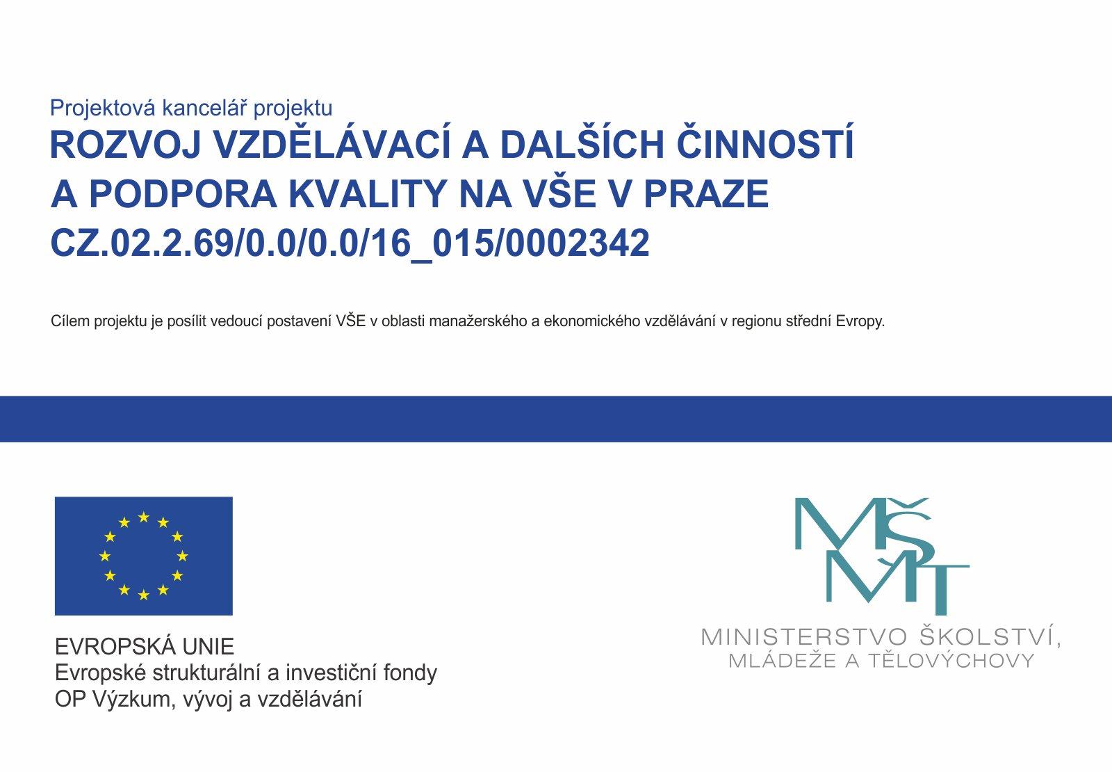 Rozvoj vzdělávací a dalších činností a podpora kvality na VŠE v Praze