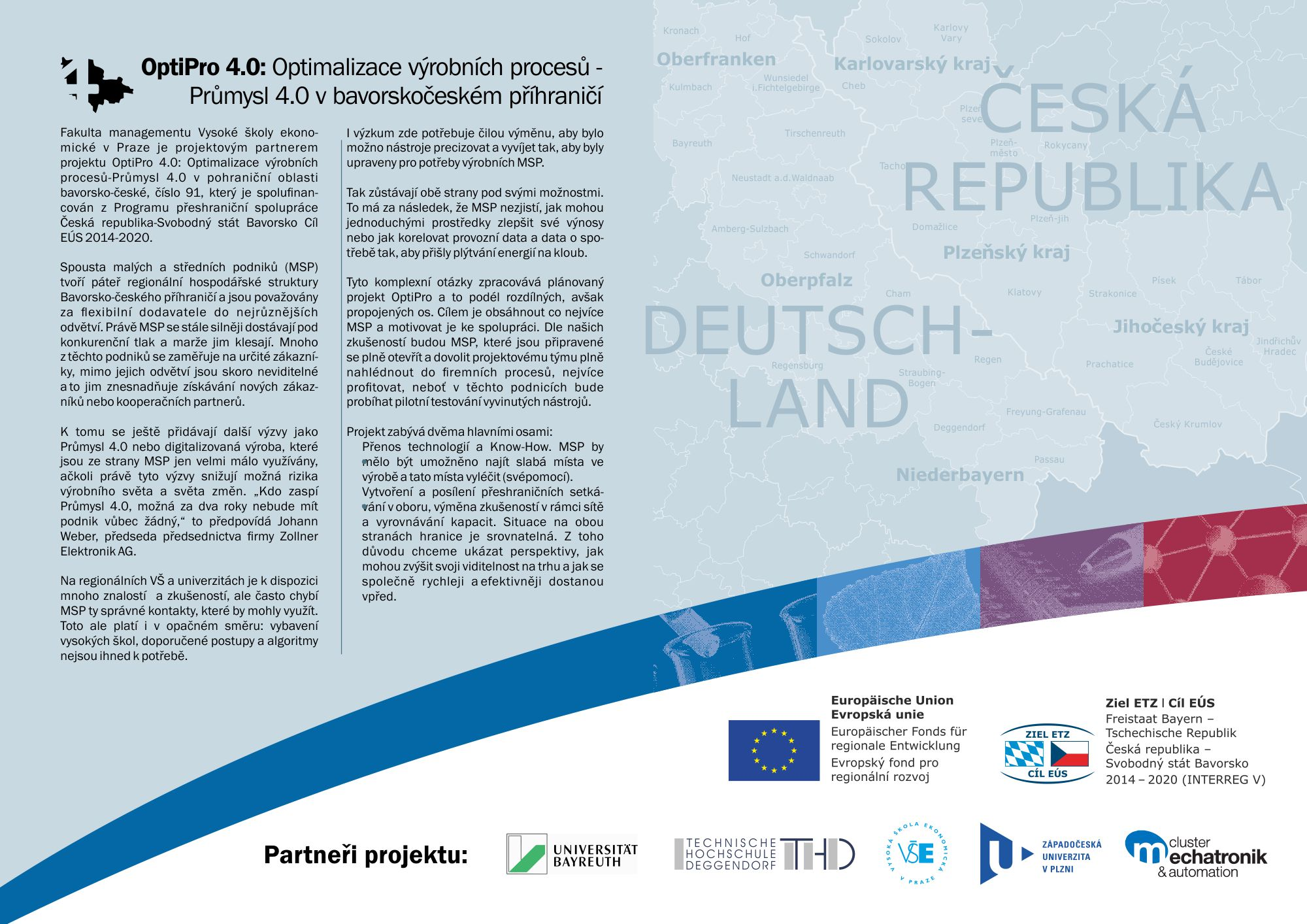 OptiPro 4.0: Optimalizace výrobních procesů-Průmysl 4.0 v pohraniční oblasti bavorsko-české